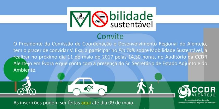 Comissão de Coordenação e Desenvolvimento Regional do Alentejo promove PIN TALK sobre Mobilidade Sustentável