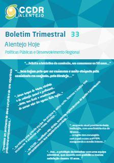 Boletim n.º 33, Alentejo Hoje - Políticas Públicas e Desenvolvimento Regional