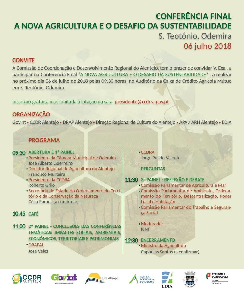 Conferencia Final - A Nova Agricultura e o Desafio da Sustentabilidade