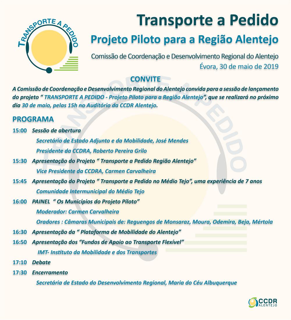 Transporte a Pedido - Projeto Piloto para a Região Alentejo