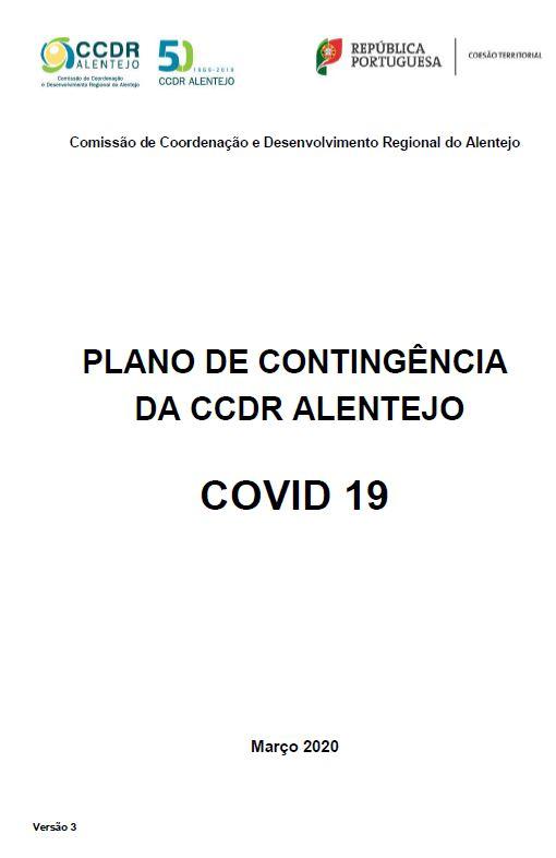 PLANO DE CONTINGÊNCIA DA CCDR ALENTEJO COVID 19